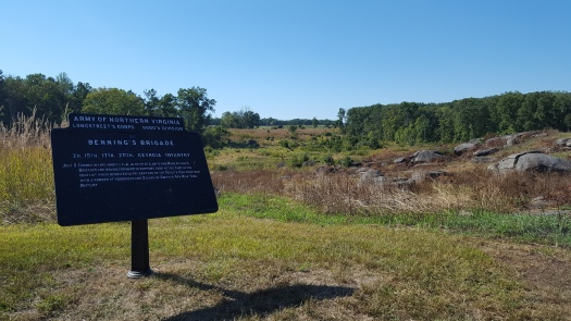 Benning's Brigade Sign at Devil's Den