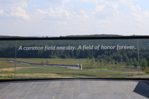 Flight 93 Crash Site from Visitor Center, photo courtesy National Park Service
