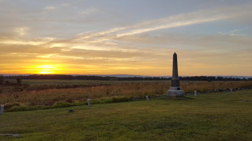 Gettysburg Battlefield at Sunset