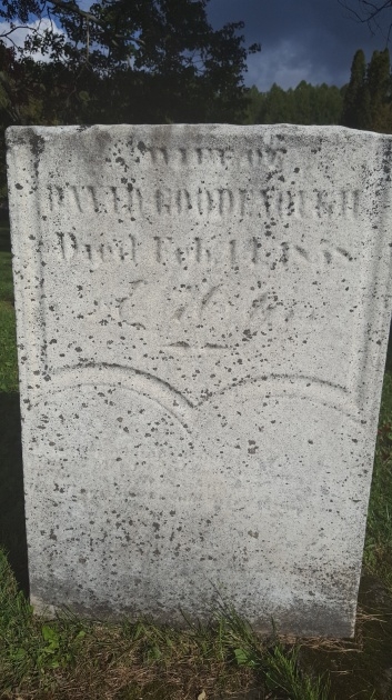 Gravestone of Hannah Goodenough, Delevan Cemetery, Delevan, New York