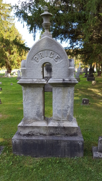 Price Monument, Atwater Cemetery, Homer, Cortland County, New York