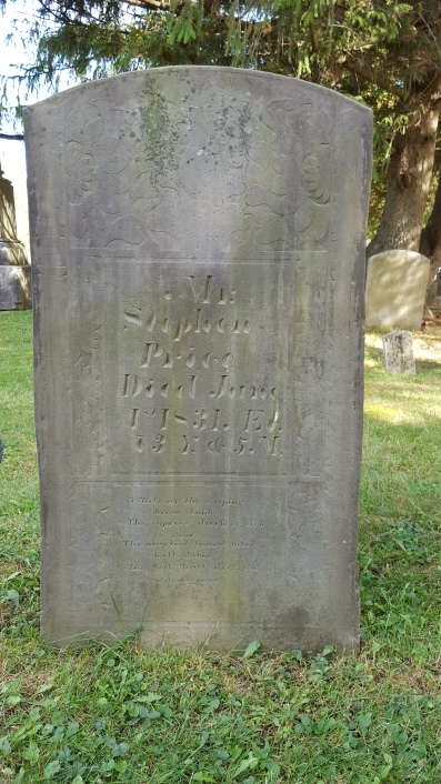 Gravestone of Stephen Price, Atwater Cemetery, Homer, Cortland County, New York