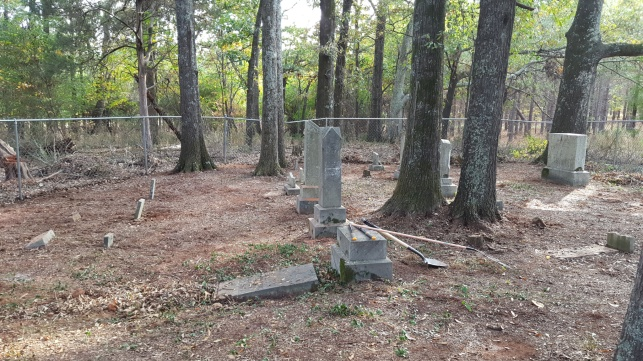 Roberts Family Cemetery, Walton County, Georgia, after 2016 cleanup