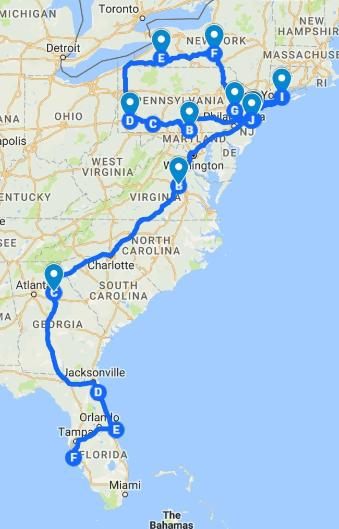 Fall 2016 RV Route