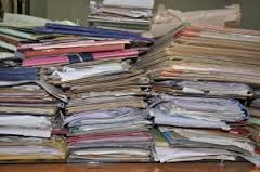 My pile of papers is similar to this!
