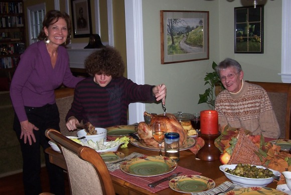 Thanksgiving Past: Chris, Kyle and Mom