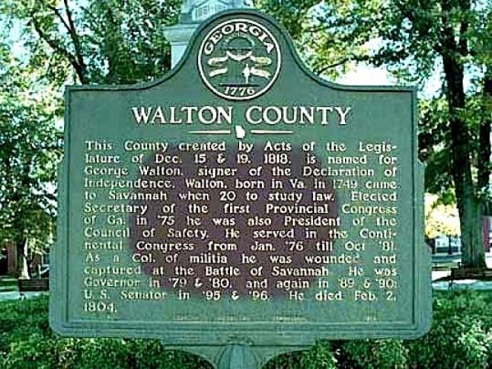 Walton County Historical Marker