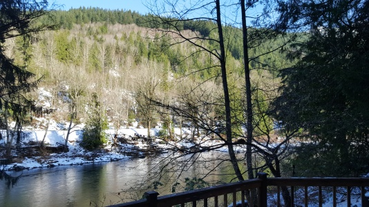 The view from the deck of our cabin