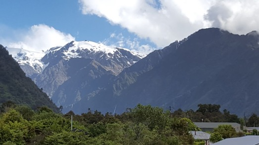 View from motel in Franz Josef