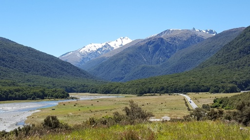 Stopped for lunch at Cameron Flats along the Makarora River
