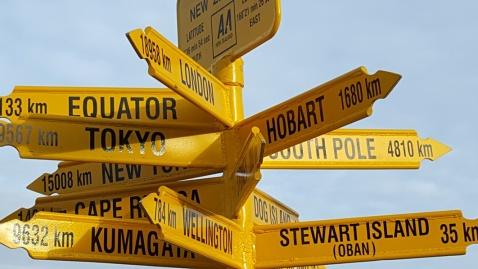 Signpost at Bluff