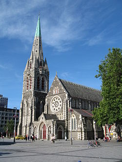 ChristChurch Catherdral, Christ Church, New Zealand. From Wikipedia.