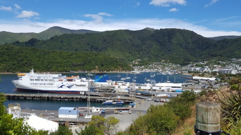 Interislander Ferry in Picton Harbor on the South Island