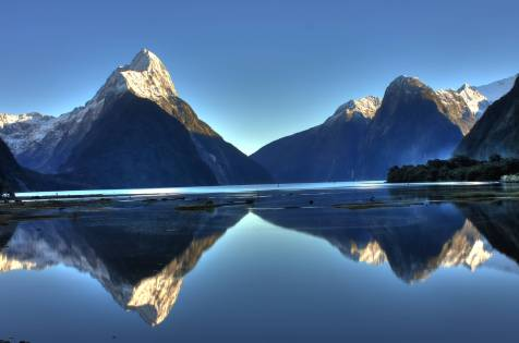 Milford Sound on a clear day