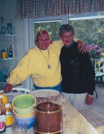 My Aunt Arden and my Mom at Arden's Sarasota house